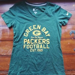 Green Bay packers women/girl's t shirt size L